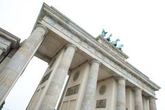 Part of Brandenburg Gate, Berlin Germany Royalty Free Stock Photos