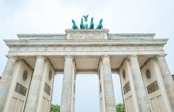 Part of Brandenburg Gate, Berlin Germany stock images