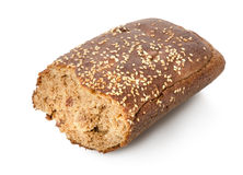Part  bread with seeds Royalty Free Stock Photos