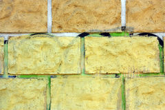 Part of a brick wall as texture Royalty Free Stock Images