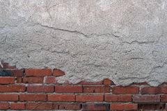 Part of brick wall. Abstract, textured background. Royalty Free Stock Photos