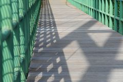Part of Bridge path Royalty Free Stock Photography