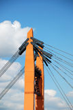 Part of the bridge with ropes Royalty Free Stock Photos