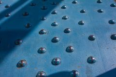 Part of the bridge structure with rivets royalty free stock photos