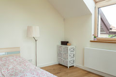 Part of bright bedroom Stock Images