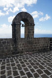 Part of Brimstone Hill Fortress wall with a bell arch, Saint Kit Royalty Free Stock Photography