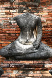 Part of broken buddha statue , Thailand Royalty Free Stock Photography