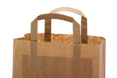 Part of a brown paper bag. Royalty Free Stock Photo