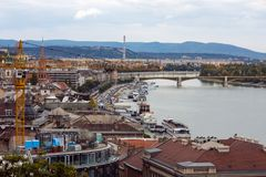 Part of Budapest city Royalty Free Stock Photos