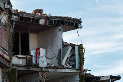 Part of a building demolished by the Earthquake Stock Photography