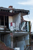 Part of a building destroyed by the Earthquake Royalty Free Stock Image