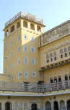 Part of the building of the Palace of winds Hava Makhal in Jaipur India Stock Photography