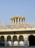 Part of the building of the Palace of winds Hava Makhal in Jaipur India Royalty Free Stock Image