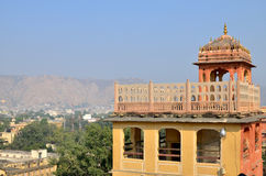 Part the building of the Palace  the winds Hava Makhal in Jaipur India Royalty Free Stock Photography