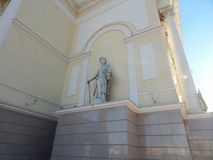 Part of the building with a statue Stock Photography