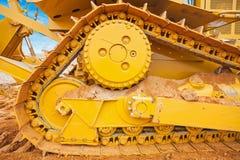 Part of bulldozer  track construction concept Stock Image