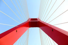 The part of cable bridge Royalty Free Stock Images