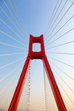 The part of cable bridge Royalty Free Stock Photos