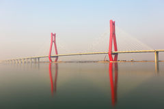 The part of cable bridge Royalty Free Stock Photography