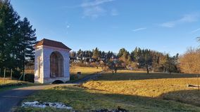 Calvary Trip in Rimov, Czechia royalty free stock image