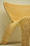 Part of cane chair. Part of a cane chair shown curve and featued texture Royalty Free Stock Photos