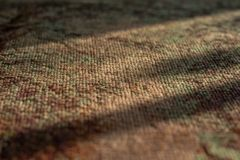 Part of a canvas embroidered with a cross royalty free stock photo
