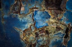 The part of a car, grunge rusty old car. Close-up Stock Photo