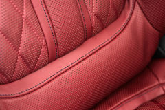 Part of car leather seat. Royalty Free Stock Images