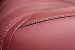 Part of car leather seat. Royalty Free Stock Photos