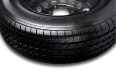 Part of car tire Stock Photo