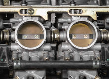 Part of carburetor for motorcycle Stock Images