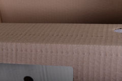 Part of cardboard box Stock Photos