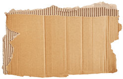 Part of cardboard Stock Image
