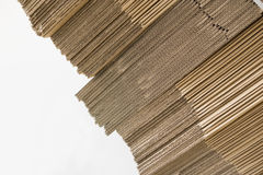 Part of cardboard sheets on white background Stock Image