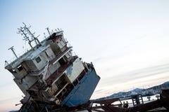 Part of a cargo shipwreck exterior, closeup . Part of a cargo shipwreck exterior, closeup background Royalty Free Stock Photography
