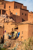 Part of the Castle of Ait Benhaddou, a fortified city, the forme Stock Photos