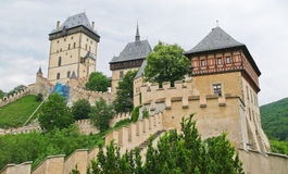 The part of the castle Karlstejn Royalty Free Stock Photo