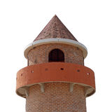 Part of a castle tower on white background Stock Image