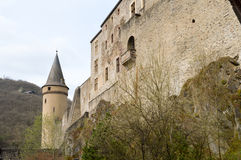 Part of the castle of Vianden royalty free stock photo