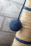 Part of Cat scratching post with the ball Royalty Free Stock Photo