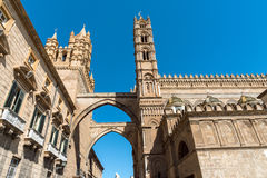 Part of the cathedral of Palermo Royalty Free Stock Photo