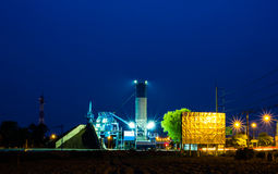 Part of a cement factory Royalty Free Stock Image