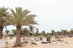 Part of the cemetry in Swakopmund Stock Photo