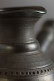 Part of Ceramic Cezve. Selective Focus. Stock Image