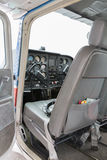 Part of cessna 172 plane. At the airport France Stock Photos