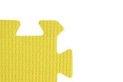 Part of children's puzzle. Yellow Stock Photos