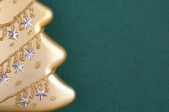 Part of Christmas decoration gold fir Stock Images
