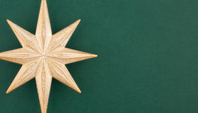 Part of Christmas decoration gold star Royalty Free Stock Photography