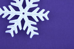 Part of Christmas decoration silver snowflake Royalty Free Stock Images