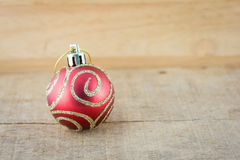 Part of Christmas red ball Royalty Free Stock Photos